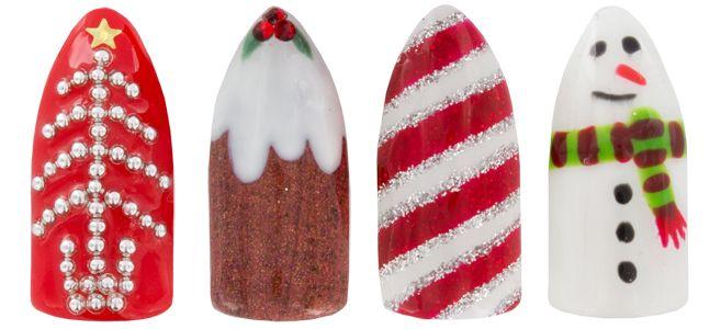 Adorable Christmas inspired nail art <3