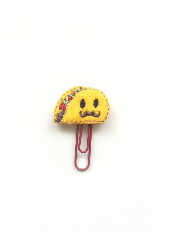 Hey, I found this really awesome Etsy listing at https://www.etsy.com/listing/294213813/senor-taco-planner-clip-taco-tuesday