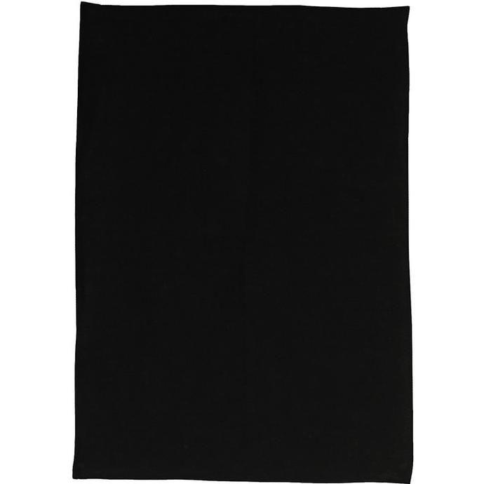 plain black tea towels