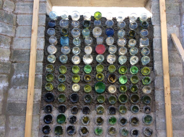 Bottle wall in progress......