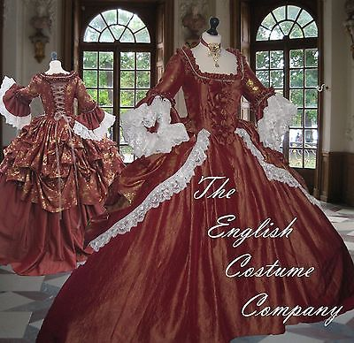SIZES L XL XXL Versailles Marie Antoinette Venice carnival dress.FULLY CORSETED