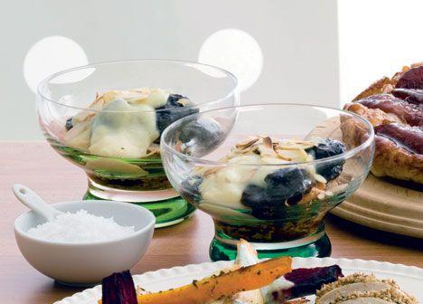 Opskrift på Svesketrifli med vaniljecreme fra - Hjemmet