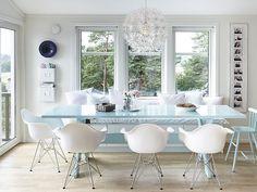 Nada inspira más a verano en un hogar que la decoración en tonos pastel. Madera de color claro, blancos y azul celeste es lo predominante en esta casa noruega. Su dueña ha introducido ese color en …