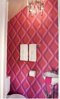 Circusy colours  Cole and son Pompeian trellis wallpaper