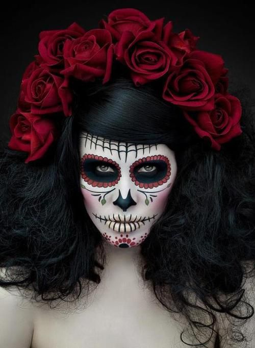 dia de los muertos mexican day of the dead face painting and makeup ideas - Halloween Day Of The Dead Face Paint