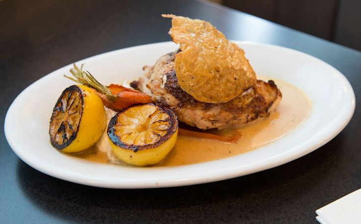Amanda Freitag's Lemon Chicken: Brining the chicken seasons it down to the bone, and helps keep the flesh juicy while it cooks.