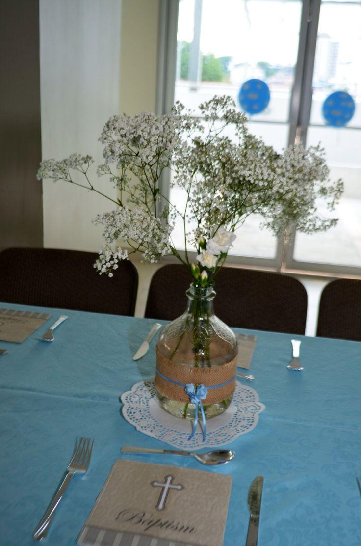 Centro de mesas para bautizo estilo vintage bautizo - Centros de mesa bautizo economicos ...