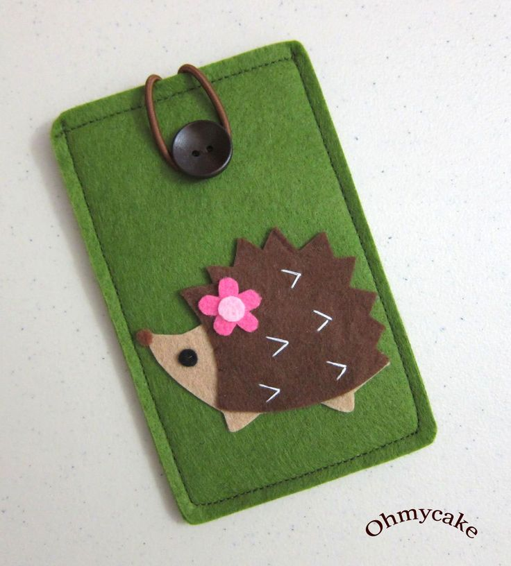 "iPhone Case - Cell Phone Case - iPhone 4 Case - iPod Case - iPod Touch Case - Handmade iPhone Felt Case - "" Coffee Brown Hedgehog "" Design. $18.00, via Etsy."