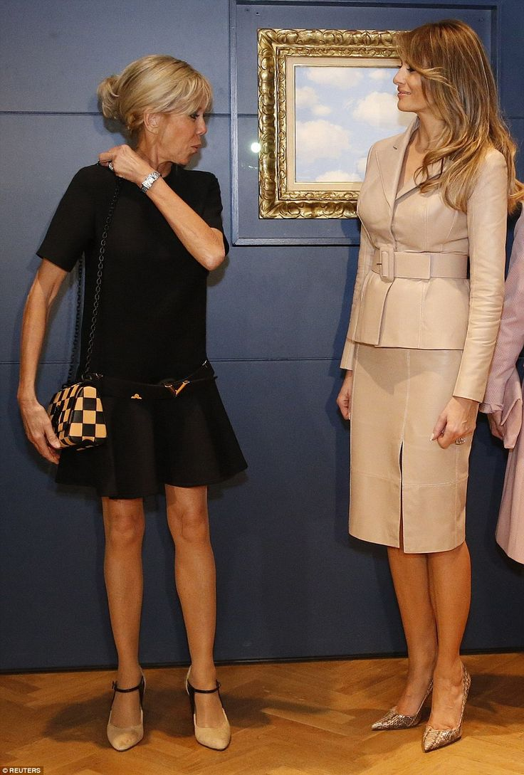 Melania Trump meets Queen Mathilde at Royal Palace | Daily Mail Online