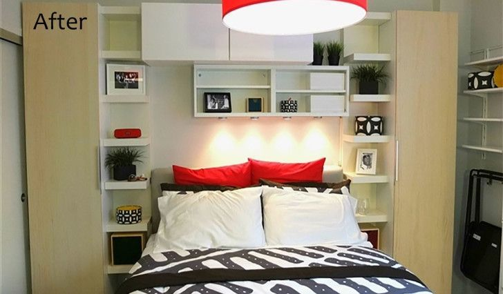 See Ikea S Storage Maximizing Makeover Of A 300 Sq Ft Studio Apartment In The Bronx In 2020 Bedroom Design Diy Apartment Bedroom Decor Apartment Decorating Livingroom
