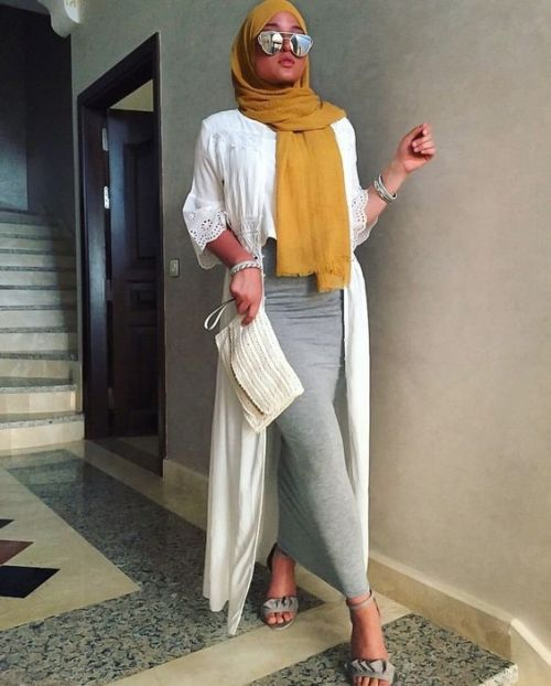Casual chiffon kaftans with hijab – Just Trendy Girls
