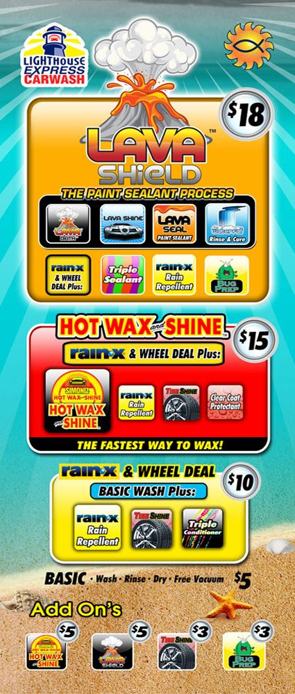 Car Wash Rack Card, Rack Card Design, Print your Rack Cards at www.InexpensivePrintSolutions.com