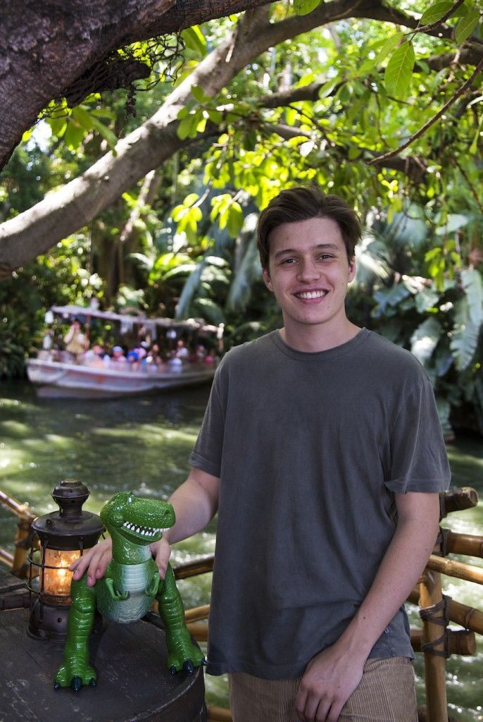 "Actor Nick Robinson, star of ""Jurassic World,"""