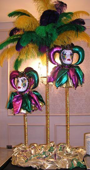 mardi gras centerpieces   Home Dressing - The Major Elements of Mardi Gras Decorations