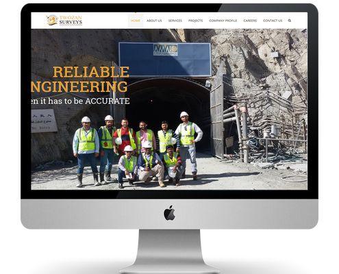 Twozan Survey Engineering website ksa