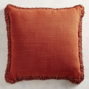 There's a party on your sofa, and our pillow is the life of it. Celebrate softness and comfort in a bright orange with flashy fringe. This pillow makes your sofa the perfect place to crash for a pizza party, movie marathon or cozy catnap.