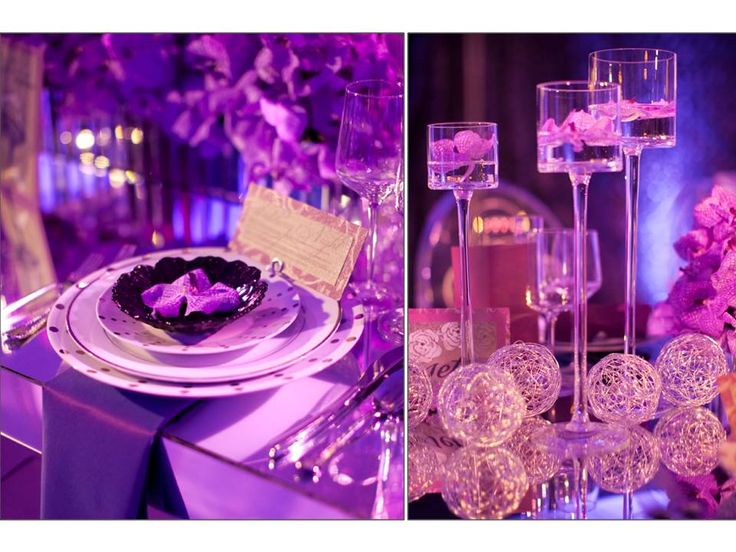 purple orchid table decorations