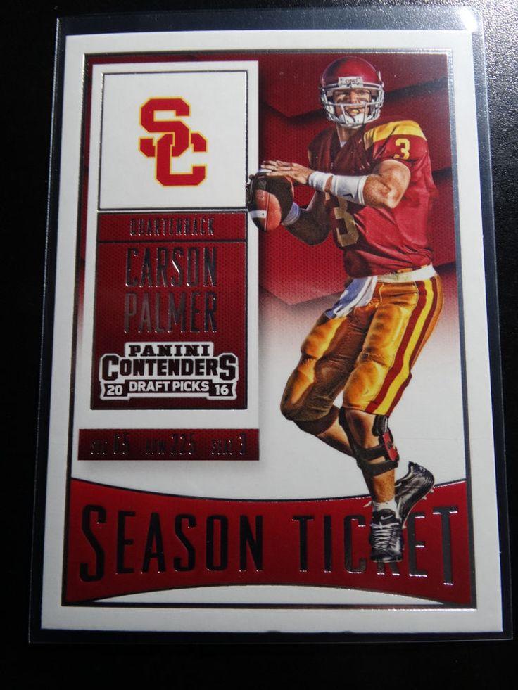 2016 Panini Contenders Draft Picks #20 Carson Palmer USC Season Ticket Card