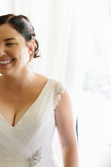 My wedding dress by Maggie Sottero #capsleeves Photo from Em + Steven collection by Marnie Hawson