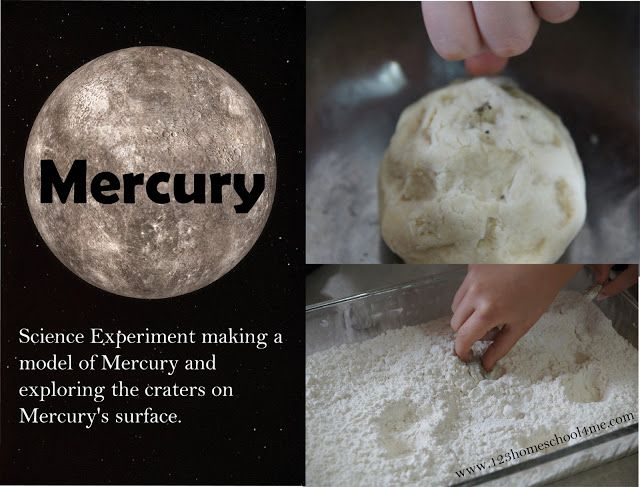 Mercury Science Project for Solar System Unit for Kids: astronomy week