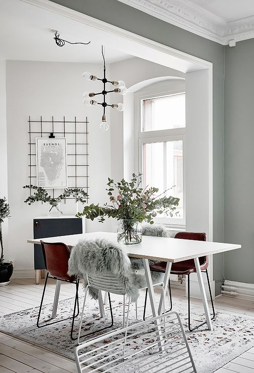Green grey home with character - via Coco Lapine Design