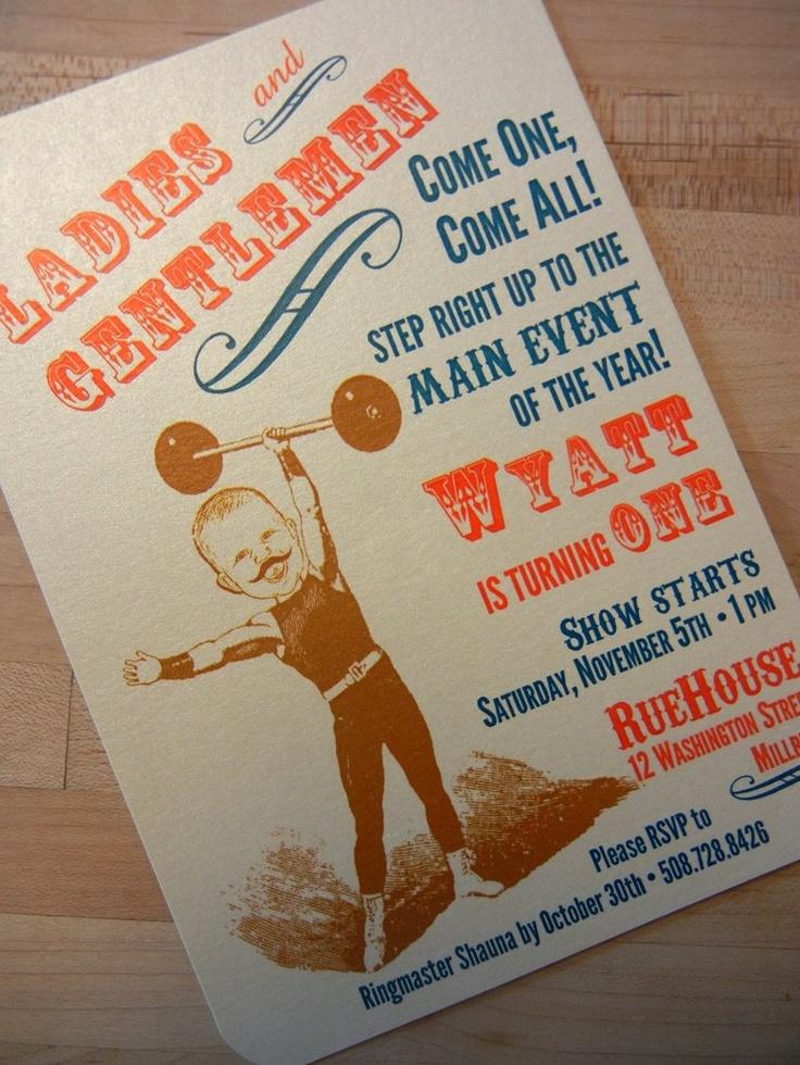 Vintage Circus Birthday Invitations. I ❤