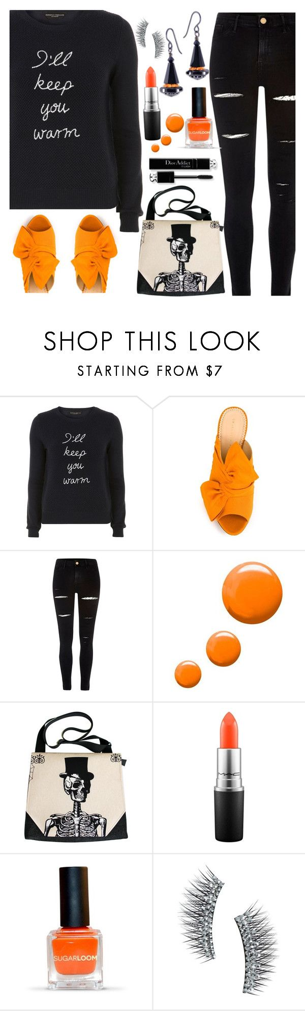 """I'll Keep You Warm"" by deborah-calton ❤ liked on Polyvore featuring Dorothy Perkins, Charlotte Olympia, River Island, Topshop, MAC Cosmetics and Kre-at Beauty"