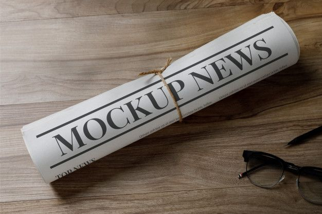 Business Newspaper Mockup Template With Glasses In 2020 Mockup Template Mockup Paper Texture Mockup