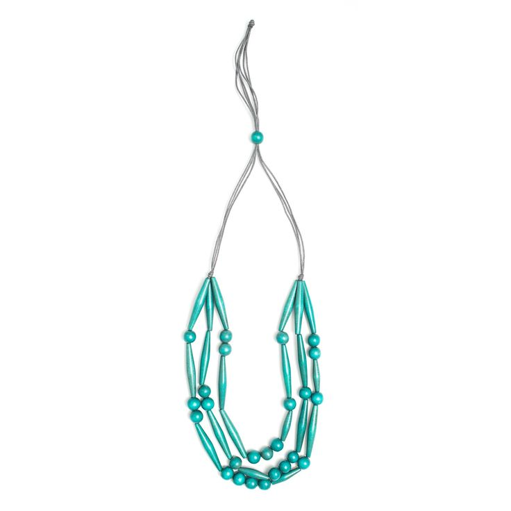 Sticks and Stones necklace, teal
