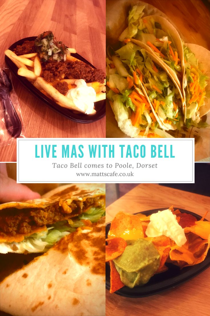 Live Mas Taco Bell is now in Poole, Dorset. The food is fantastic, the service is excellent and very american. You won't be dissapointed.