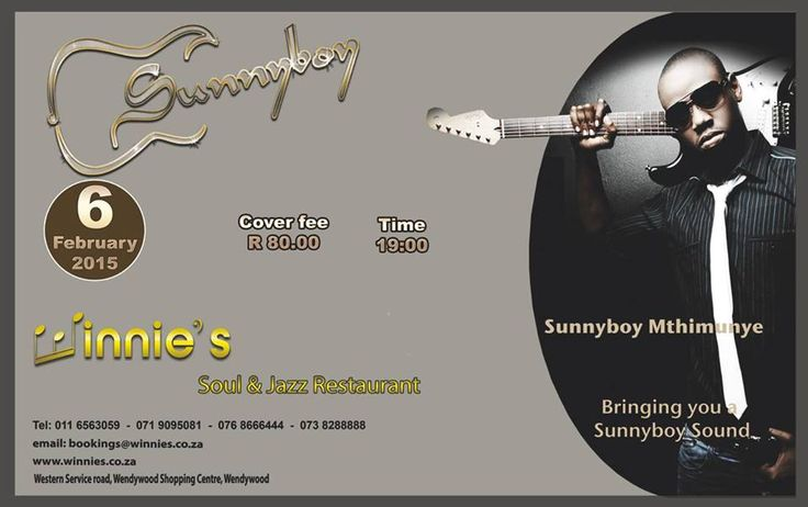 Hailing from eMbalentle in Secunda, Mpumalanga, the immensely talented Sunnyboy was somewhat of a late bloomer having started playing at the age of 18 while in matric, after having listened to Jimmy Dludlu's music in 2001.