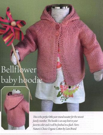 e048a9273464 Baby and Toddle Hoodie Knitting Pattern. Sizes  6-12 months