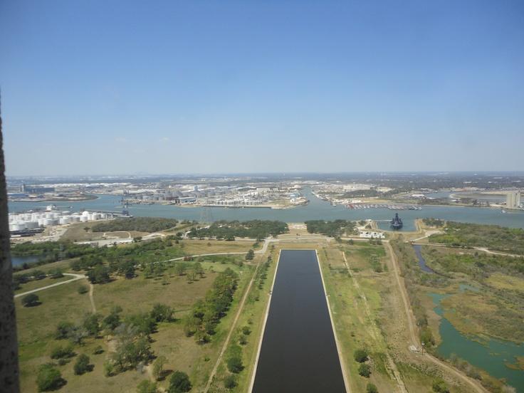 View from up top - San Jacinto Monument (La Porte, TX)