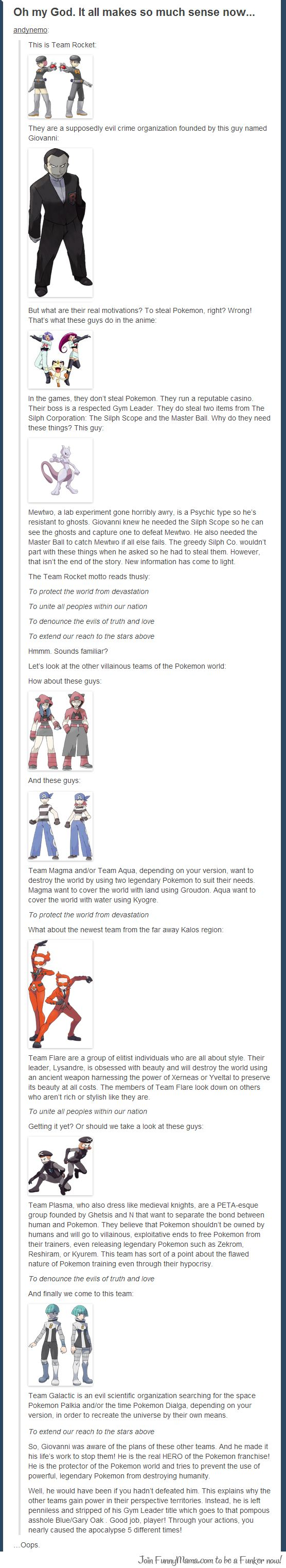 The real truth behind Team Rocket...welp, looks like i helped the apocalypse almost happen then