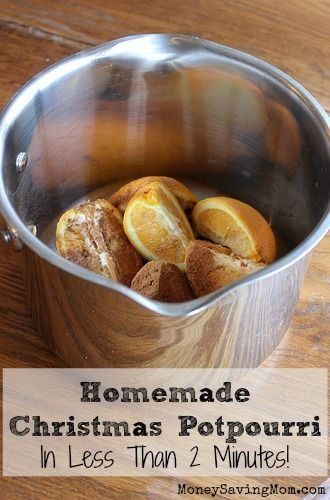 Don't throw out your orange peels or fruit that is past its prime! Use it to make Homemade Christmas Potpourri -- in less than two minutes!