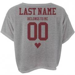 Custom Football Girlfriend Shirts, Hoodies, Jerseys, & More