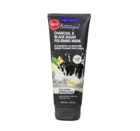 Freeman Feeling Beautiful Facial Polishing Mask, Charcoal & Black Sugar, 6 oz [072151421119]