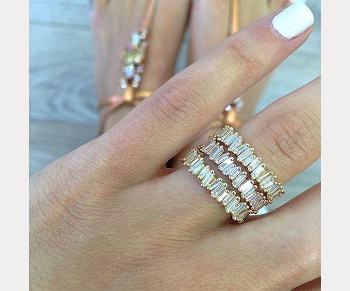 Engagement Rings & Wedding Rings  :    Eternity baguette bands ~ we ❤ this! moncheribridals.com  - #Rings https://youfashion.net/wedding/rings/engagement-rings-wedding-rings-suzanne-kalans-fireworks-baguette-diamond-bands-mon-cheri-bridals-5/