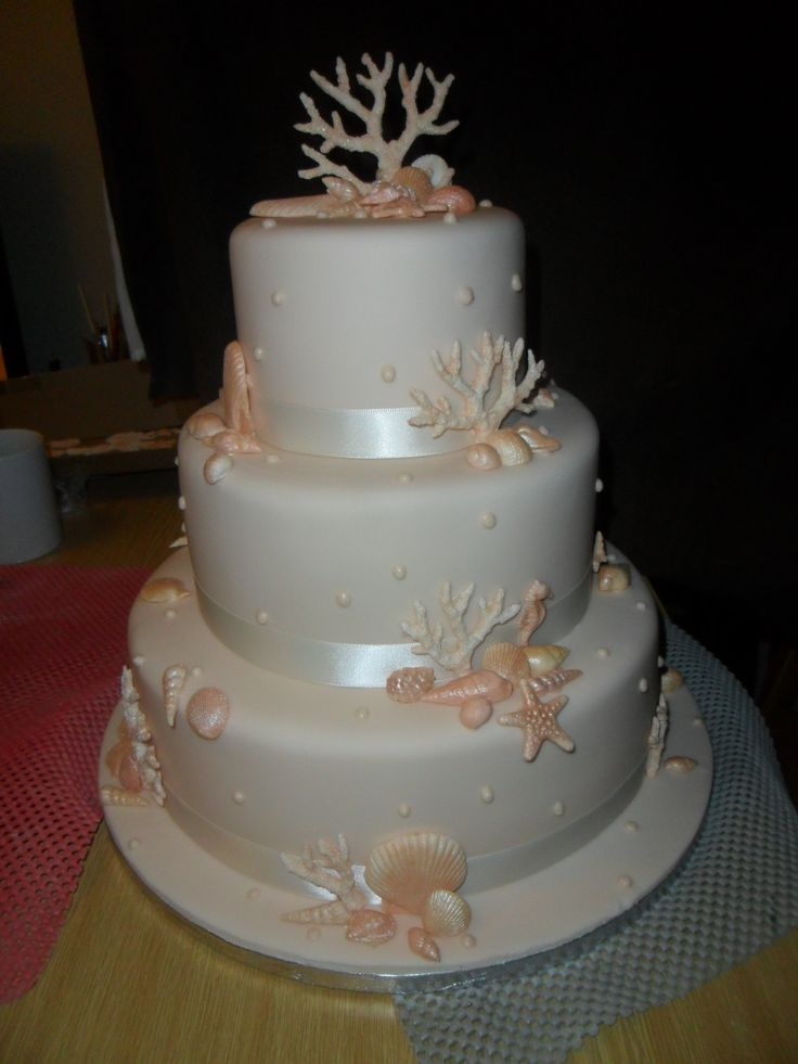 Coral Wedding Cakes
