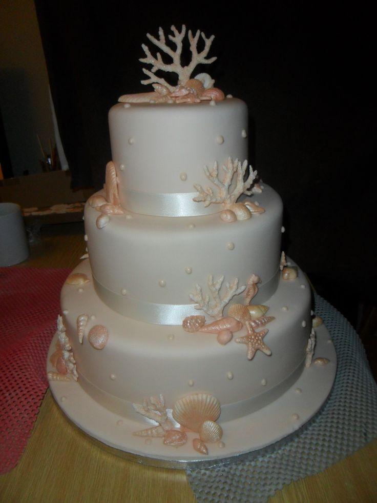 Sea Shells Amp Coral Cake Cake Decorating Ideas Wedding