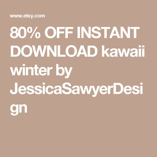 80% OFF INSTANT DOWNLOAD kawaii winter by JessicaSawyerDesign