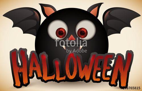 Cute Chub Black Bat for for Halloween Celebration