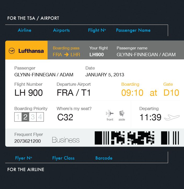 Best Boarding Pass Images On   Boarding Pass Air