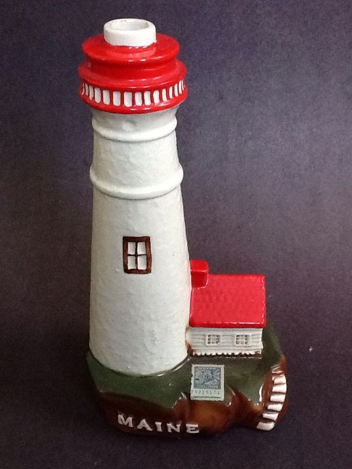 Ezra Brooks Portland Maine Lighthouse Figural Liquor
