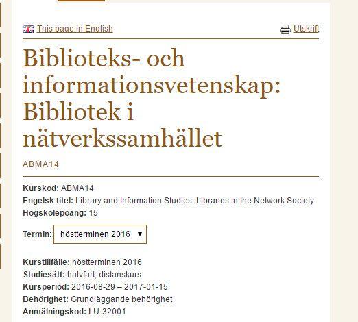 Bibliotek i #nätverkssamhället (BIN) http://www.kultur.lu.se/kurs/ABMA14/ . Intyg efter genomgången kurs hösten 2014 http://kentlundgren.se/intyg/Studientyg_Biblioteks_och_informationsveteskap_Bibliotek_i_natverkssamhallet__150116.jpg . Mitt arbete rörande  #mikrorecension'er på Instagram https://www.instagram.com/polhemsboktips/ . Rapport https://simplebooklet.com/polhemsboktips  #polhemsboktips https://www.pinterest.se/search/my_pins/?q=%23polhemsboktips . #bin14