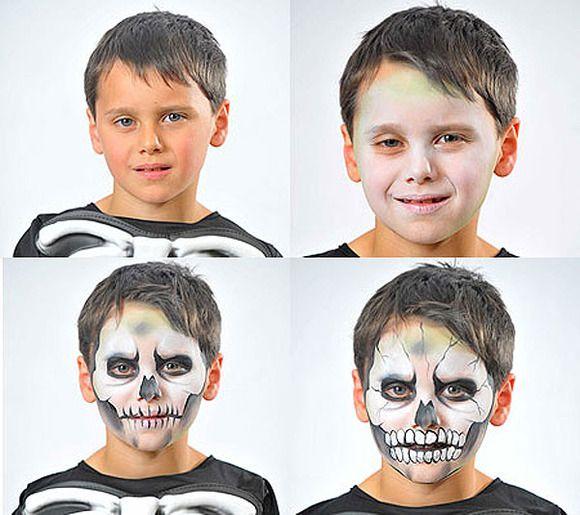 Maquillaje Halloween Niño, Maquillaje Infantil, Maquillaje Fantasía, Cara Infantil, Infantil Calavera, Disfraz Infantil, Maquillaje Original, Infantil Paso,