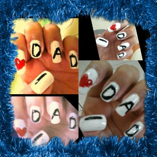 I dedicate this super simple #IDad nail art for my extremely precious father