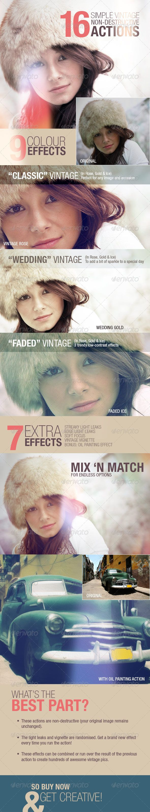 Simple Vintage Photo Effects Actions
