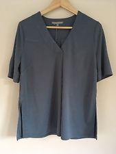 NEW Oliver Bonas Smart Blue Top T-Shirt Size 10 BNWT