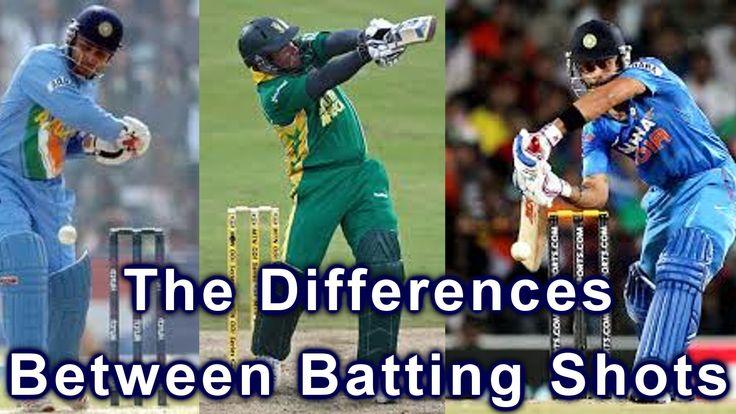 HD Cricket Coaching Batting Tips - Differences Between Batting Shots Video
